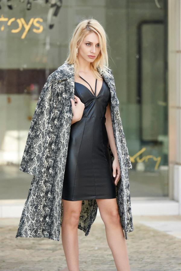 Atalanta φόρεμα μαύρο