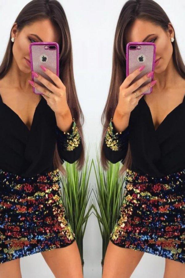 XMAS SHOP Pumpkin φόρεμα μαύρο