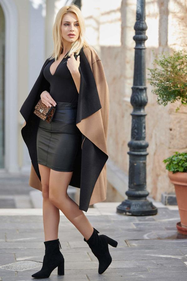 Sayona παλτό κάμελ