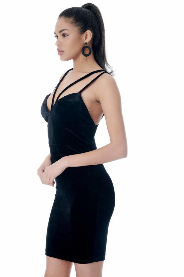 CHRISTMAS Ariadne φόρεμα μαύρο