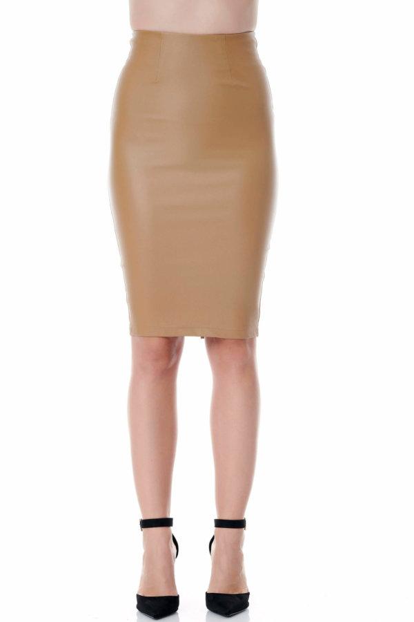 ΦΟΥΣΤΕΣ Karmina φούστα κάμελ