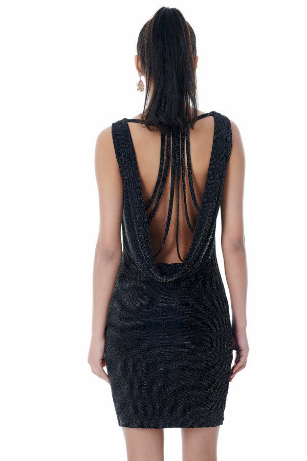 Hebe φόρεμα ασημί