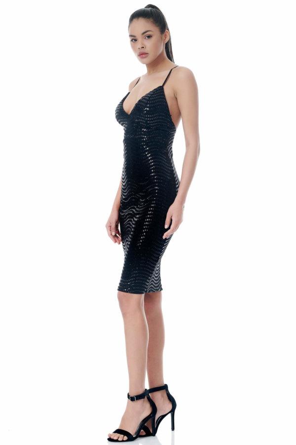 Eulalia φόρεμα μαύρο