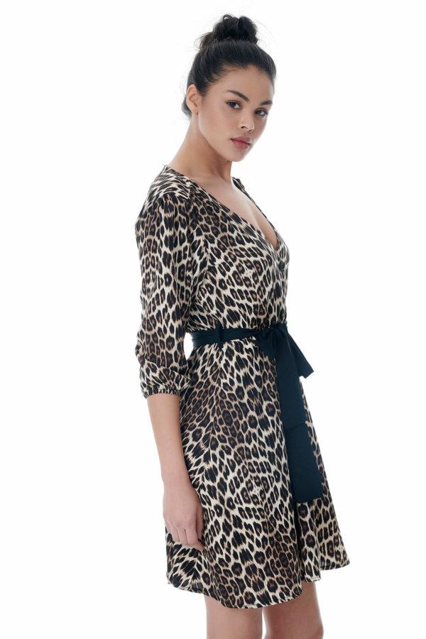 Dakini φόρεμα λεοπάρ