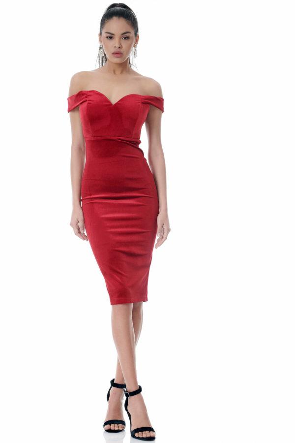 Liliana φόρεμα κόκκινο