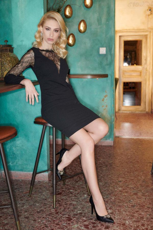 Cedar φόρεμα μαύρο