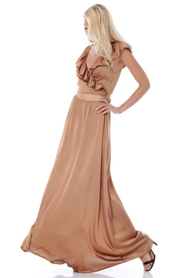 ΜΑΞΙ ΦΟΡΕΜΑΤΑ Austen φόρεμα καφέ