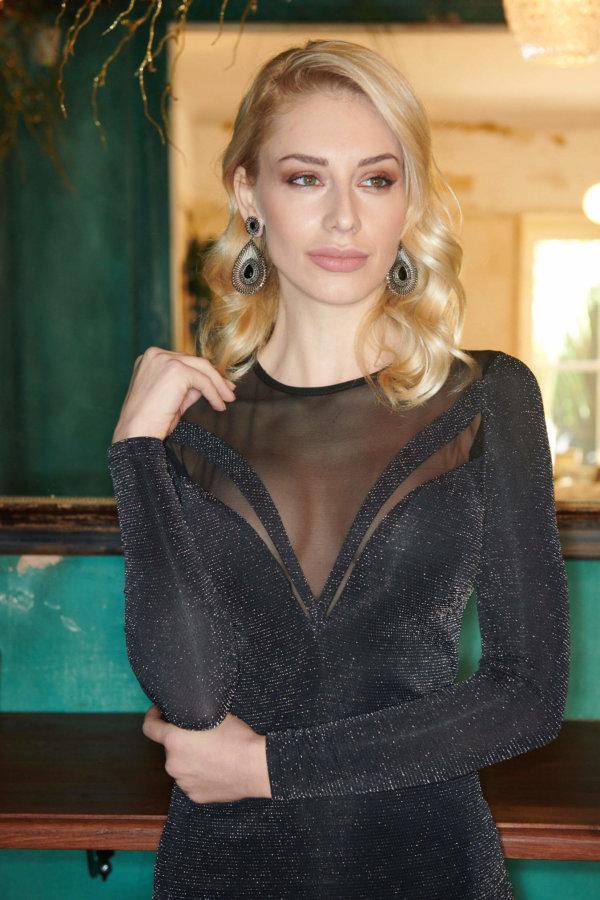ΜΙΝΤΙ ΦΟΡΕΜΑΤΑ Villa φόρεμα ασημί