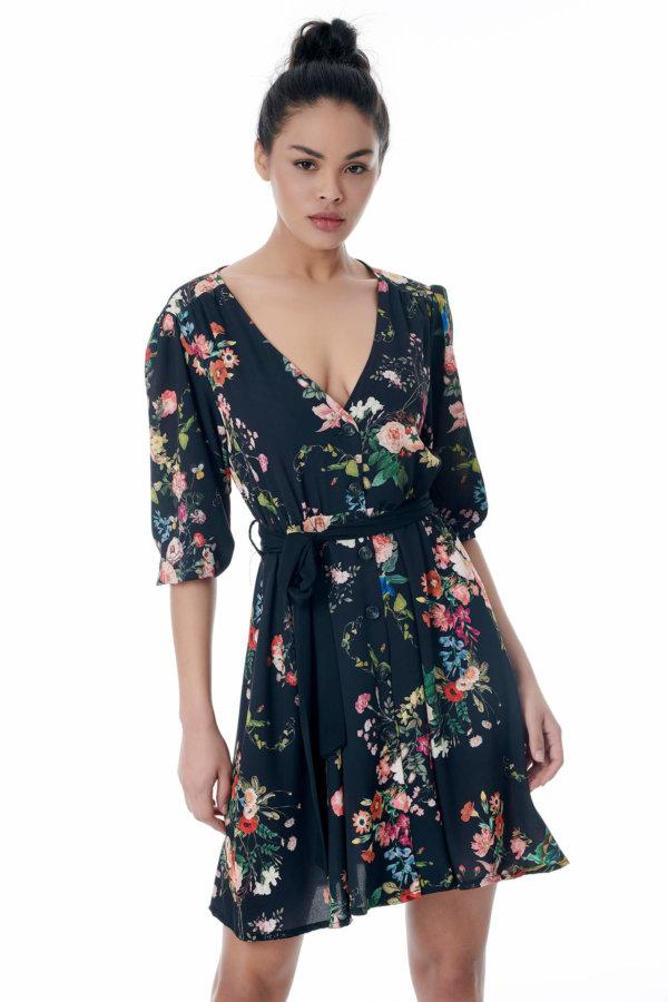 Magnolia φόρεμα μαύρο