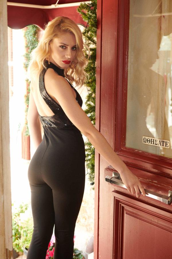 XMAS SHOP Miliana ολόσωμη φόρμα μαύρο