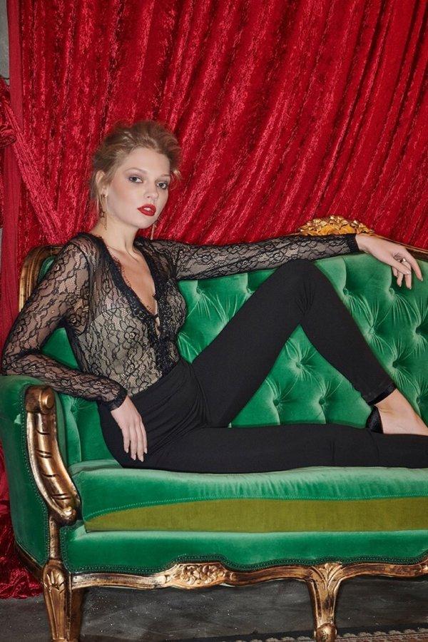 NEW YEARS EVE Doutzen ολόσωμη φόρμα μαύρο