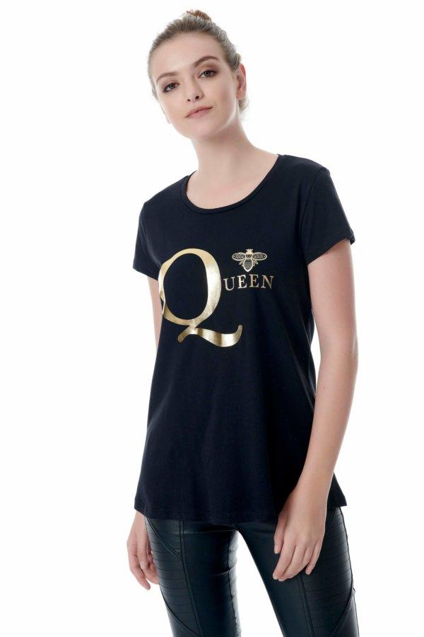 TSHIRTS Queen t-shirt μαύρο