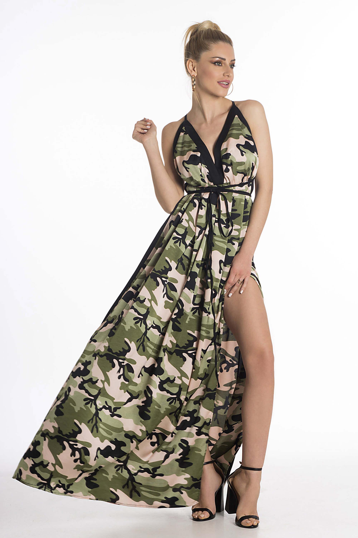 0ffd1ccb4882 JoyFashionHouse Jungle dress ροζ. 69