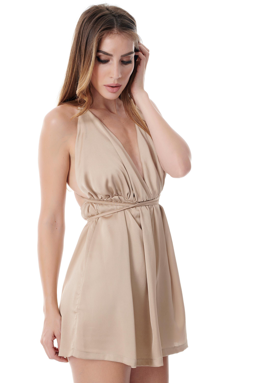 bc386508924 Grace ολόσωμη φόρμα (σορτς) χρυσό