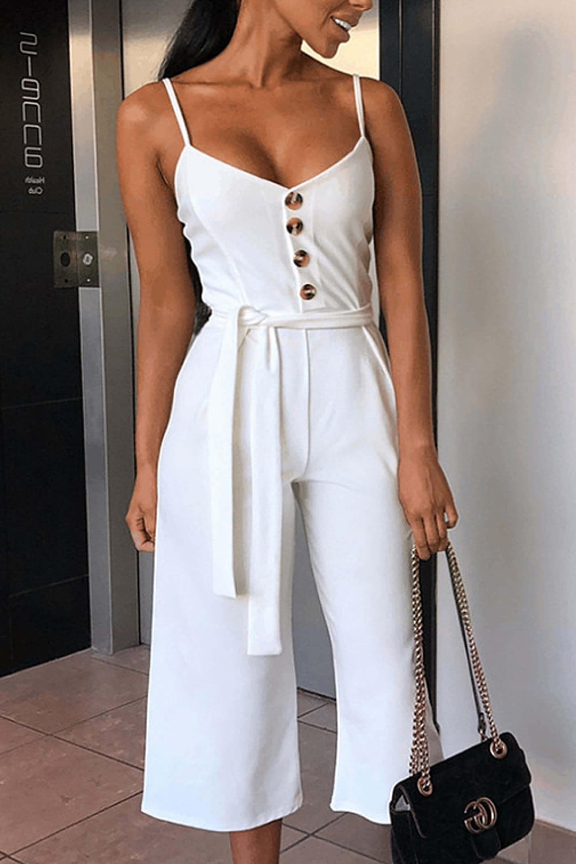 Halo jumpsuit λευκό
