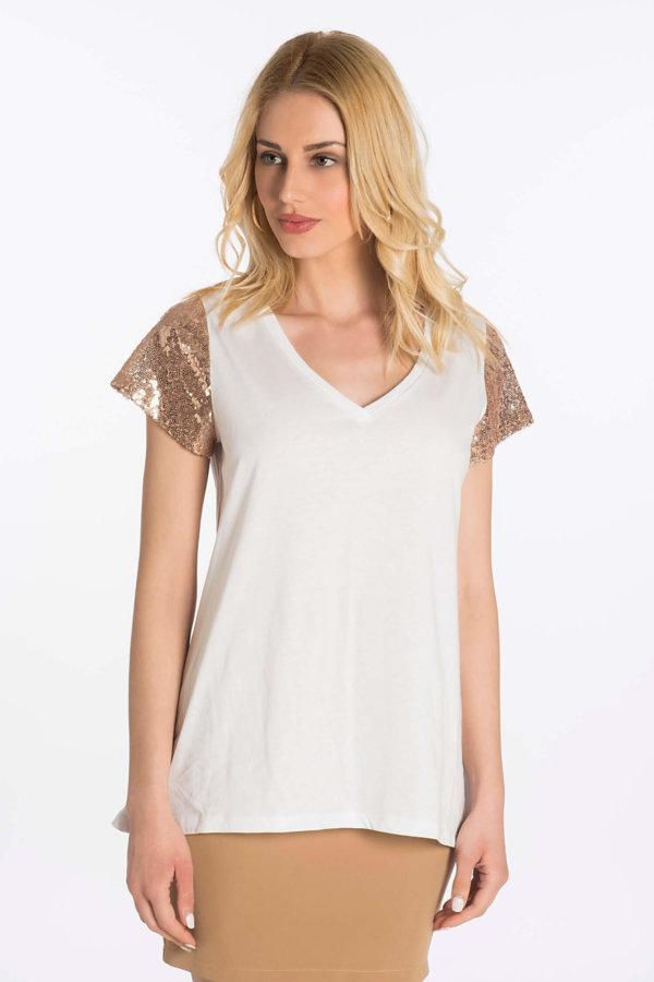 TSHIRTS Cindley t-shirt μπρονζέ