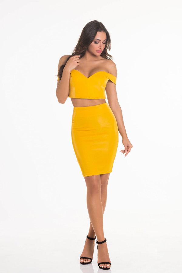 ΦΟΥΣΤΕΣ We like party φούστα κίτρινο