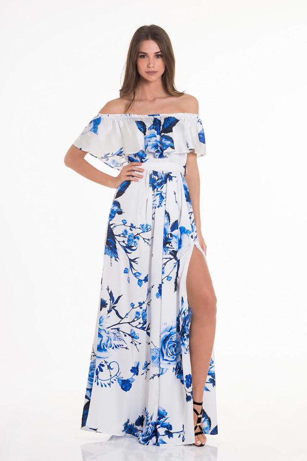 ΦΟΡΕΜΑΤΑ Happy thoughts dress μπλε