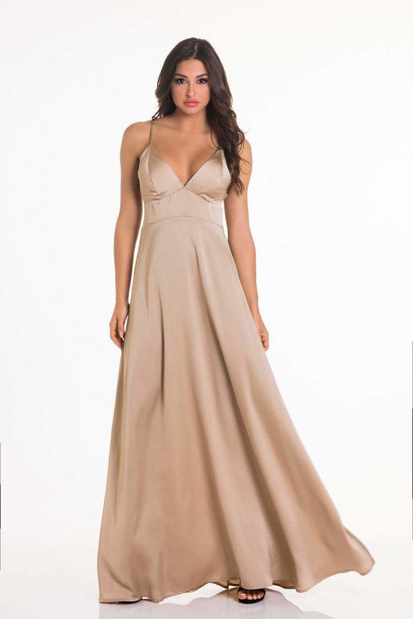 56cbbe18d326 Προσφορά! ΜΑΞΙ ΦΟΡΕΜΑΤΑ Written φόρεμα χρυσό ...