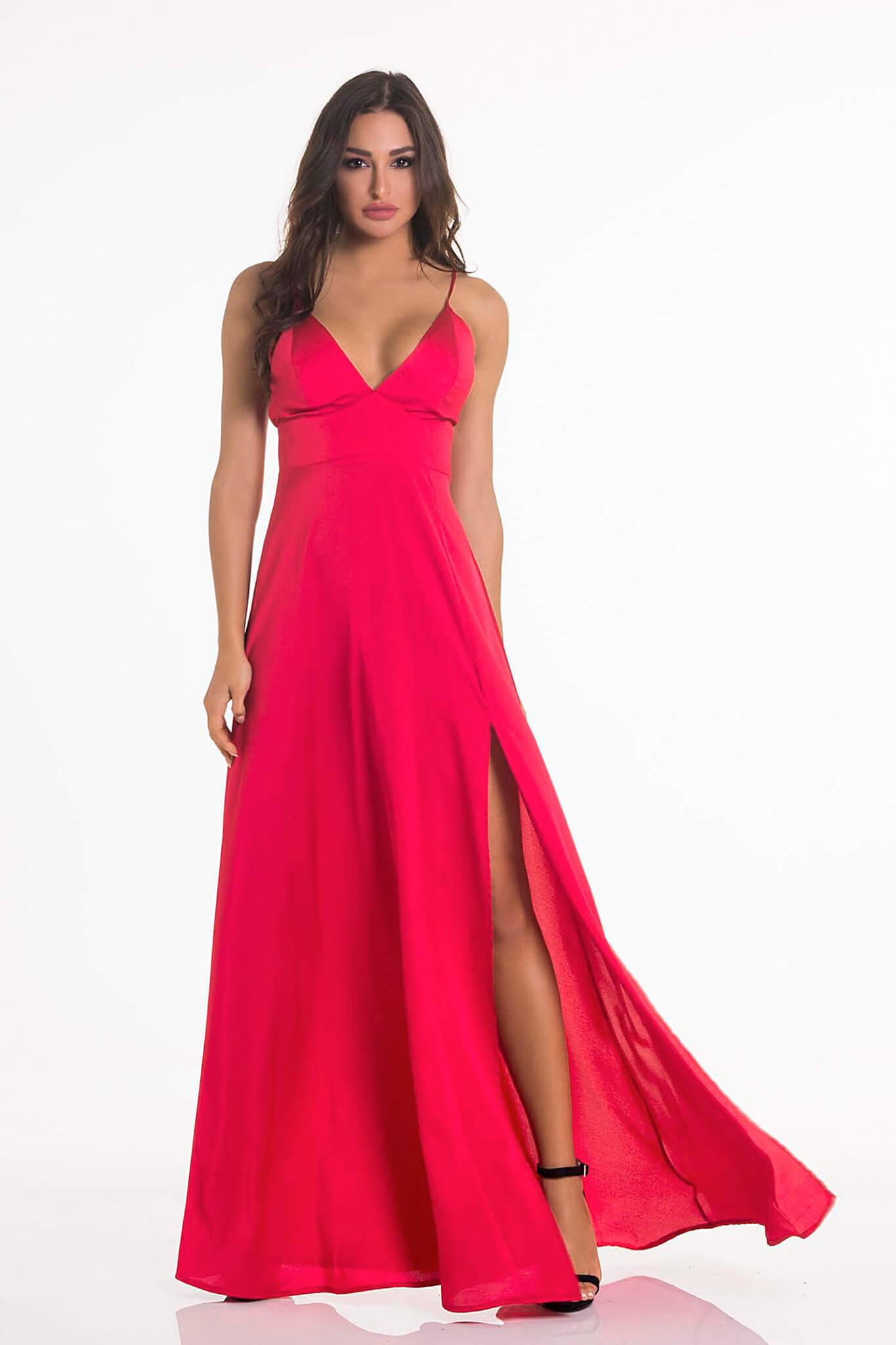 82e5eb426d50 Handwritten φόρεμα κοραλί – Joy