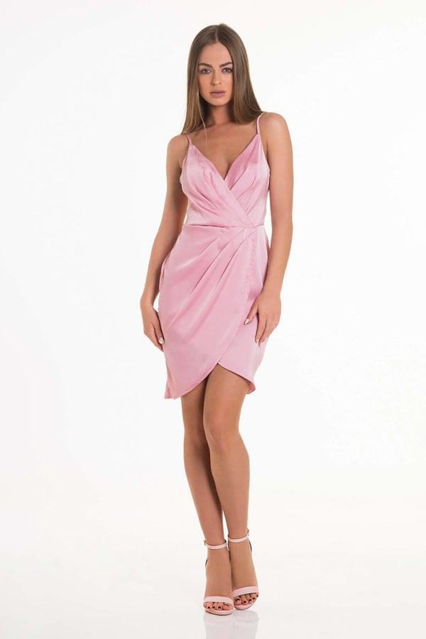 JOY LUXE Cotton Candy dress ροζ