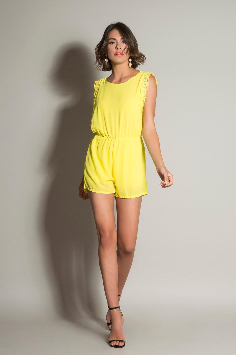 2a9a12f8f91 Kalenice ολόσωμη φόρμα (σορτς) κίτρινο