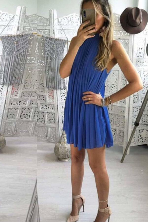 ΜΙΝΤΙ ΦΟΡΕΜΑΤΑ Make my day dress μπλε