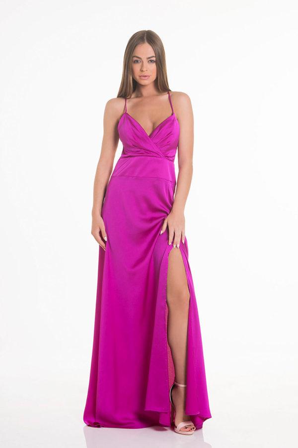 a6bf21627176 Προσφορά! ΜΑΞΙ ΦΟΡΕΜΑΤΑ Lady like φόρεμα φούξια ...