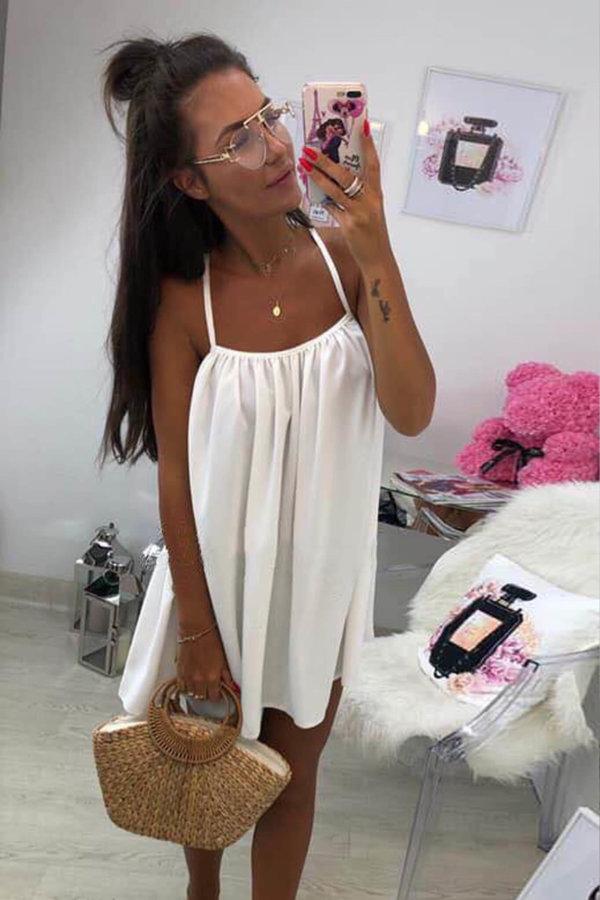 ΜΙΝΙ ΦΟΡΕΜΑΤΑ Burma dress λευκό