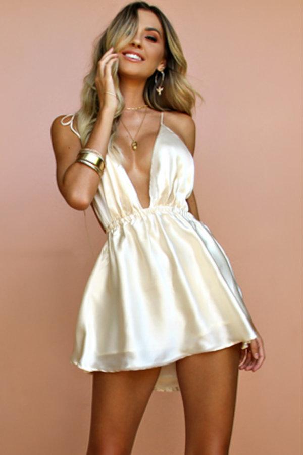 ΜΙΝΤΙ ΦΟΡΕΜΑΤΑ Mind your business φόρεμα λευκό