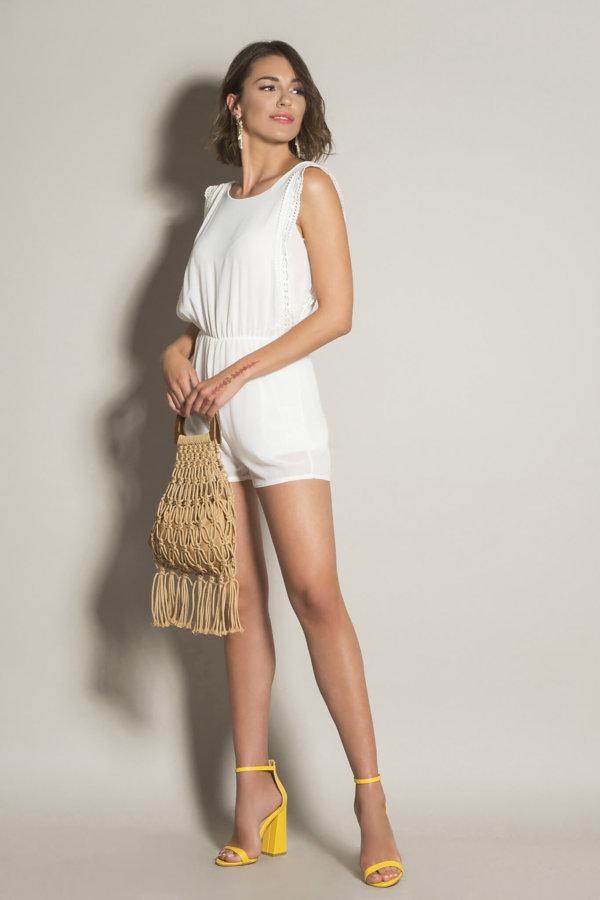 ΟΛΟΣΩΜΕΣ ΦΟΡΜΕΣ Kalenice ολόσωμη φόρμα (σορτς) λευκό