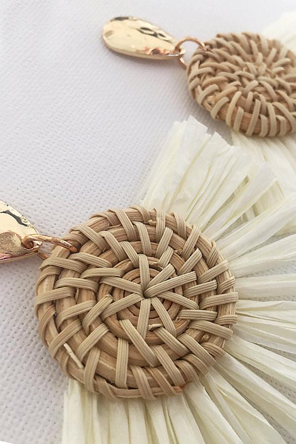 ΚΟΣΜΗΜΑΤΑ Vendalia σκουλαρίκια λευκό