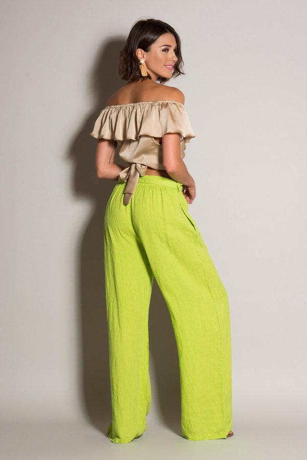 ΠΑΝΤΕΛΟΝΙΑ Coconut pants λαχανί