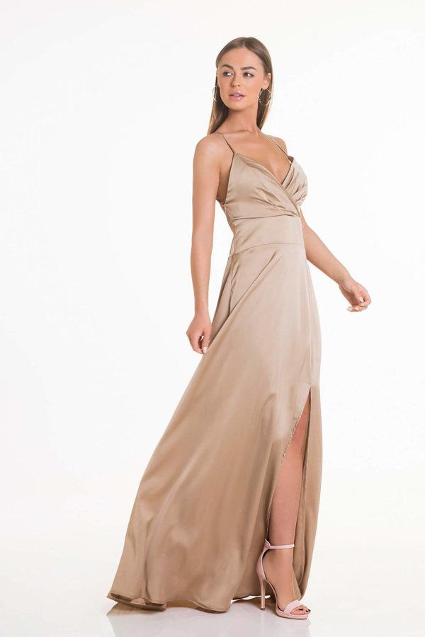 ΠΡΟΣΦΟΡΕΣ Lady like φόρεμα μπεζ