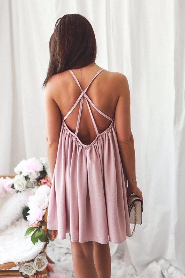 ΜΙΝΙ ΦΟΡΕΜΑΤΑ Burma dress ροζ