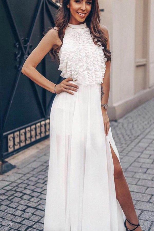 ΝΕΕΣ ΑΦΙΞΕΙΣ On your knees dress λευκό