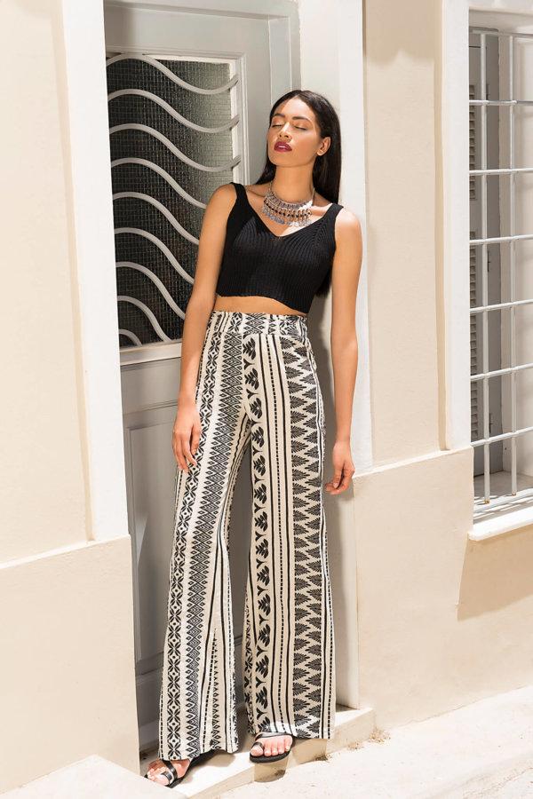 ΠΑΝΤΕΛΟΝΙΑ Gypsy παντελόνι μαύρο