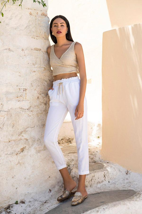 ΠΑΝΤΕΛΟΝΙΑ Valora παντελόνι λευκό