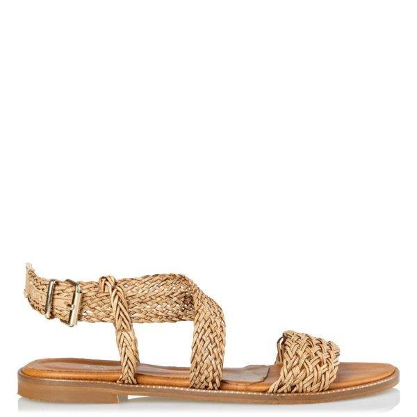 MAIRIBOO Theros flat sandals καφέ