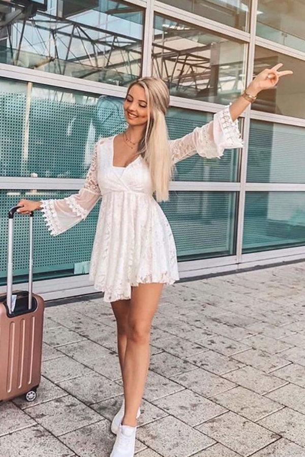 ΟΛΟΣΩΜΕΣ ΦΟΡΜΕΣ Bardot ολόσωμη φόρμα (σορτς) λευκό