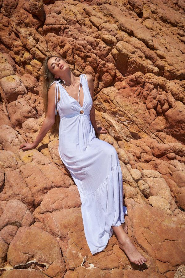 ΝΕΕΣ ΑΦΙΞΕΙΣ Summer moved on φόρεμα λευκό