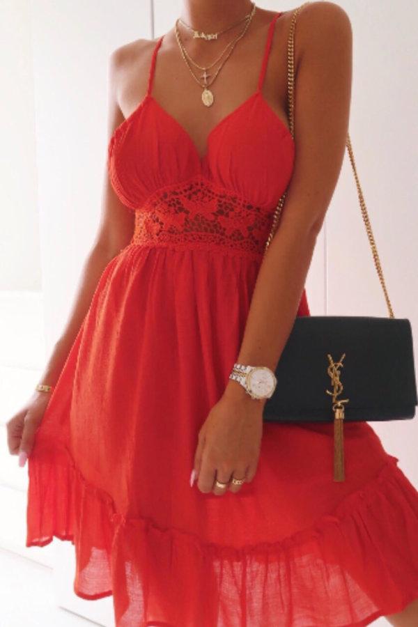 ΜΙΝΙ ΦΟΡΕΜΑΤΑ Malaga dress κόκκινο