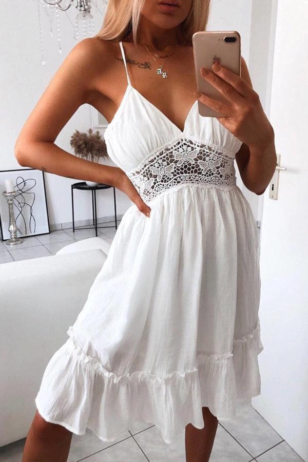 ΜΙΝΙ ΦΟΡΕΜΑΤΑ Malaga dress λευκό