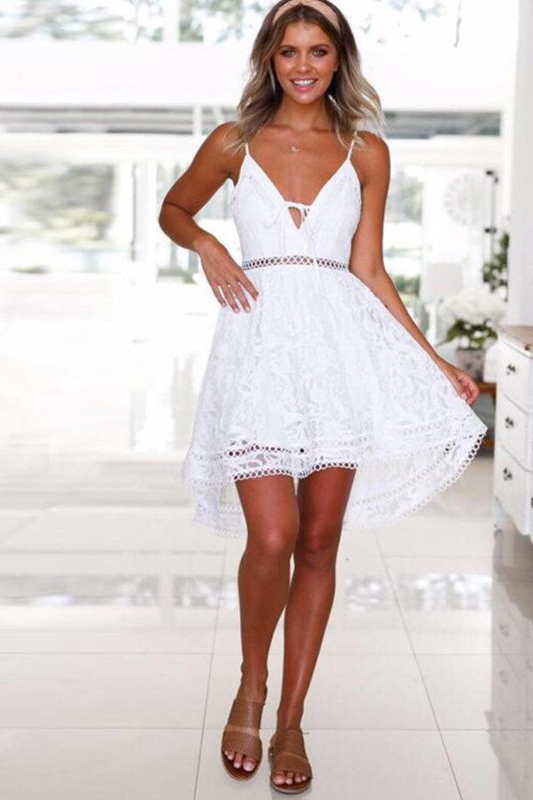 ΜΙΝΙ ΦΟΡΕΜΑΤΑ Go chic dress λευκό