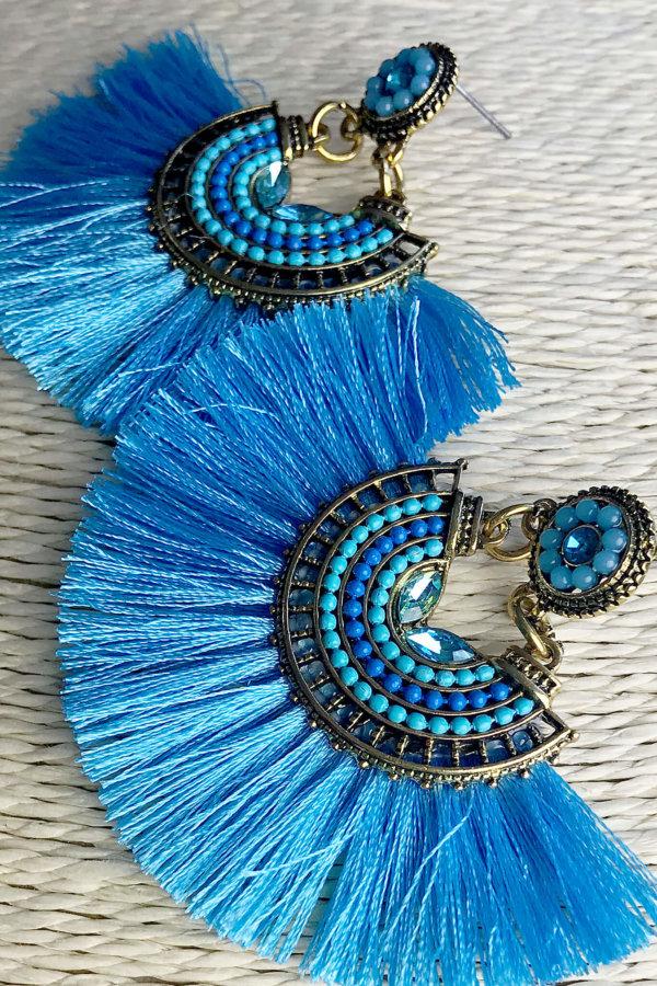ΚΟΣΜΗΜΑΤΑ Dressie σκουλαρίκια μπλε