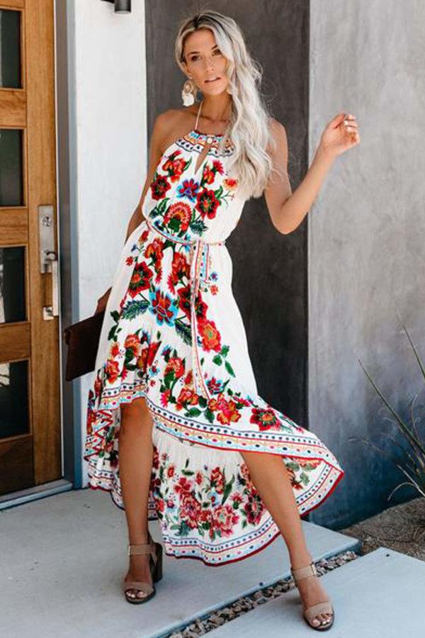 ΜΑΞΙ ΦΟΡΕΜΑΤΑ Chicness φόρεμα λευκό