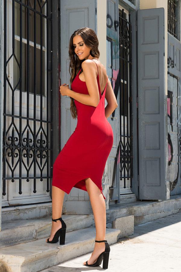 ΜΑΞΙ ΦΟΡΕΜΑΤΑ Amnesia φόρεμα κόκκινο