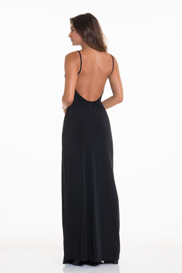 ΜΑΞΙ ΦΟΡΕΜΑΤΑ Emilia φόρεμα μαύρο