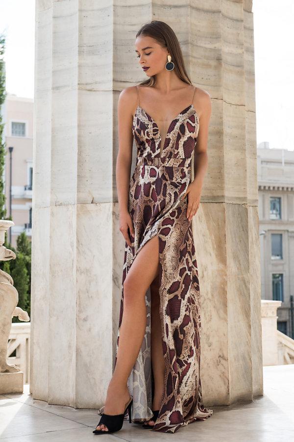 ΜΑΞΙ ΦΟΡΕΜΑΤΑ Express Dress animal print