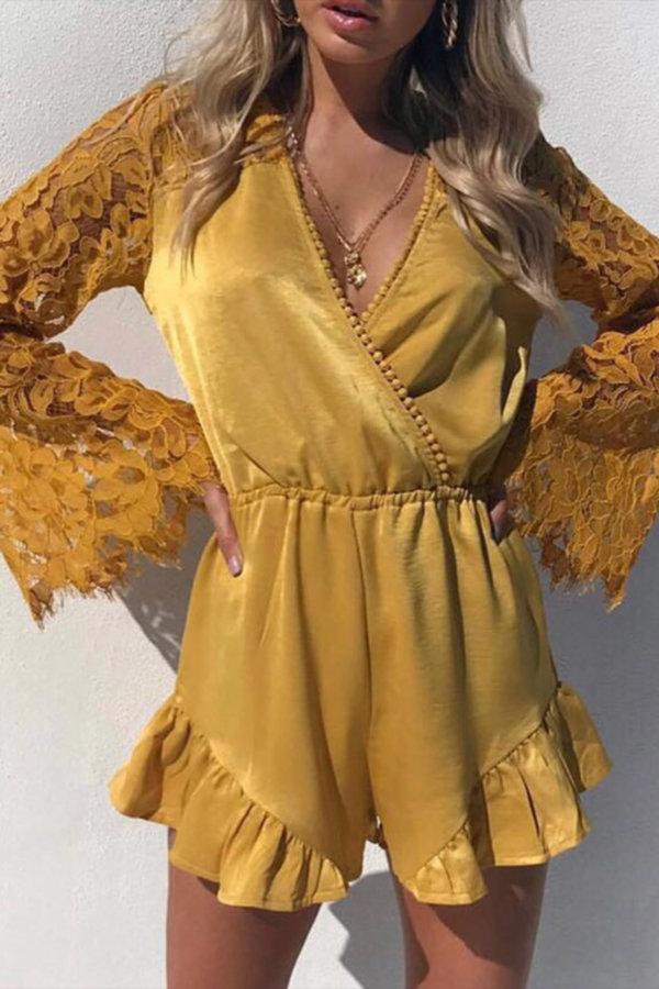 ΓΥΝΑΙΚΕΙΑ ΡΟΥΧΑ Abria jumpsuit κίτρινο